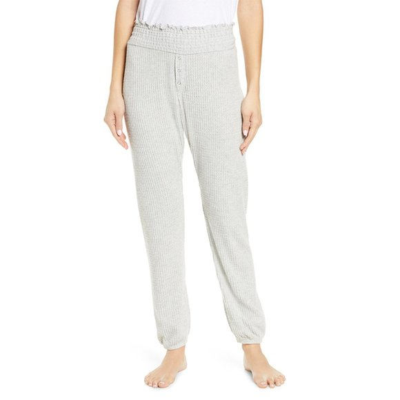 NWT BP Smocked Thermal Jogger Pants Grey Heather